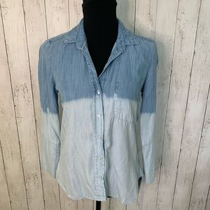 Bella Dalh XS Ombre Chambray Top XS